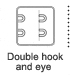 Double hook amd eye