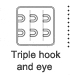 Triple hook amd eye