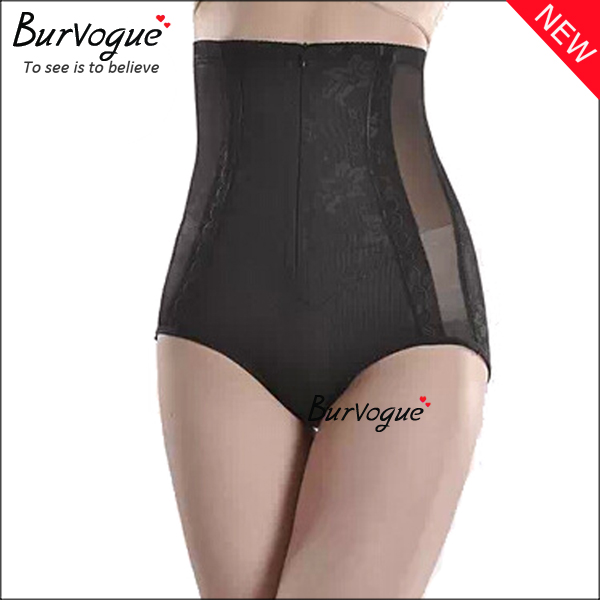 4-steel-boned-lace-sheer-body-shaper-underpants-with-zip-16079