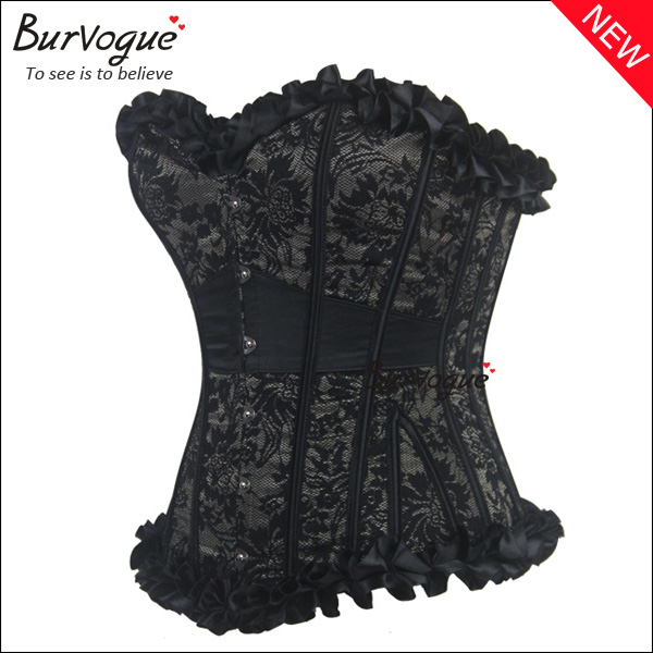 Black-Satin-Corset-Tops