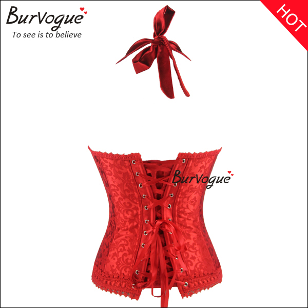 Overbust-Red-Corset-Tops