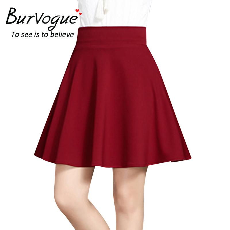 a-line-pleated-flared-mini-skirts-wholesale-15790