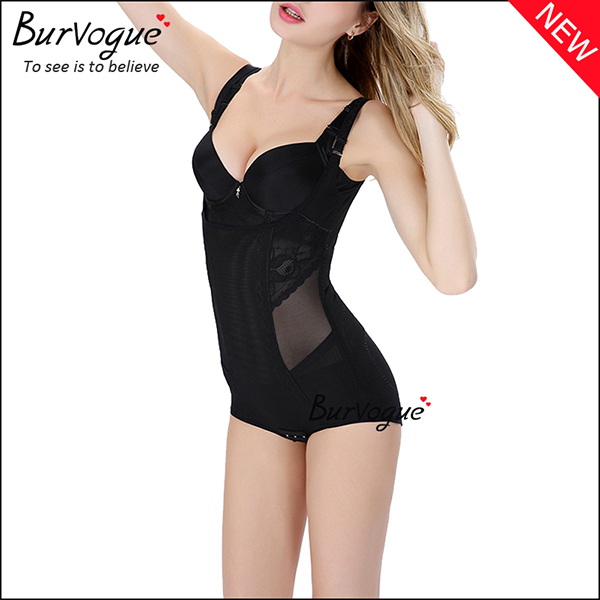 black-adjustable-straps-slimming-bodysuits-lace-body-shaper-16084