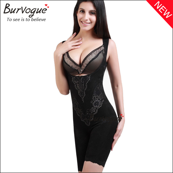 black-lace-body-shaper-straps-bodysuits-shapewear-for-women-16053