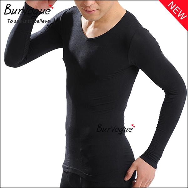 black-long-sleeve-body-shaper-waist-trainer-wholesale-80043