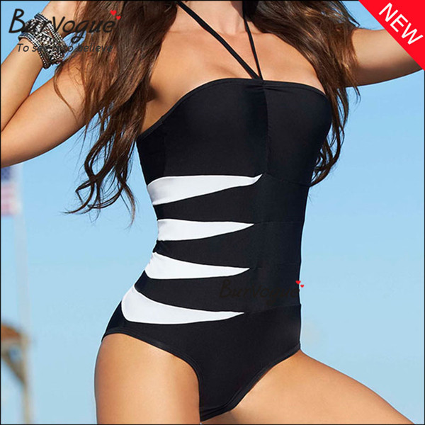 black-one-piece-high-cut-swimsuit-halter-neck-swimwear-15344