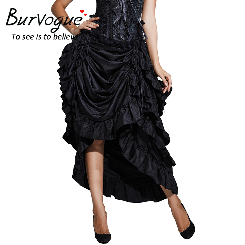 black-satin-maxi-steampunk-skirts-32079