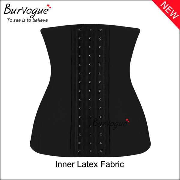 black-steel-boned-inner-latex-shaper-waist-training-corset-21442