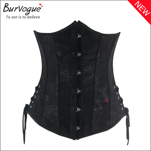 black-steel-boned-underbust-corset-waist-training-corsets-23078