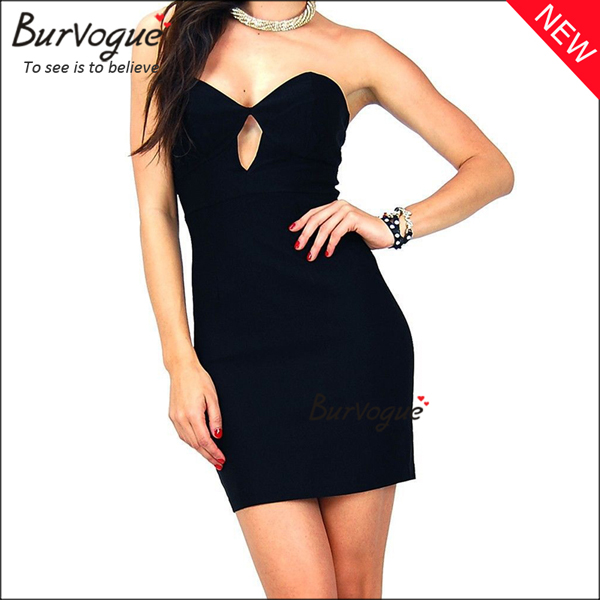 black-strapless-party-dress-wholesale-cheap-bodycon-dress-15673
