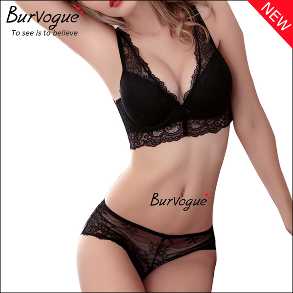 black-underwear-push-up-bra-sets-wholesale-60077