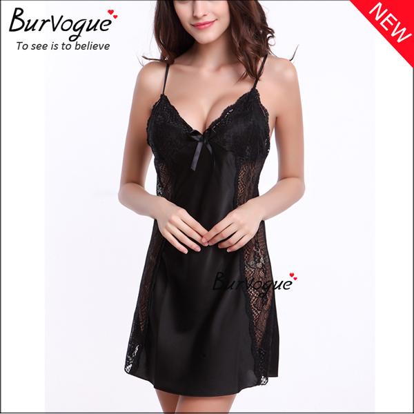 black-v-neck-nightgown-sleepwear-backless-babydolls-13175