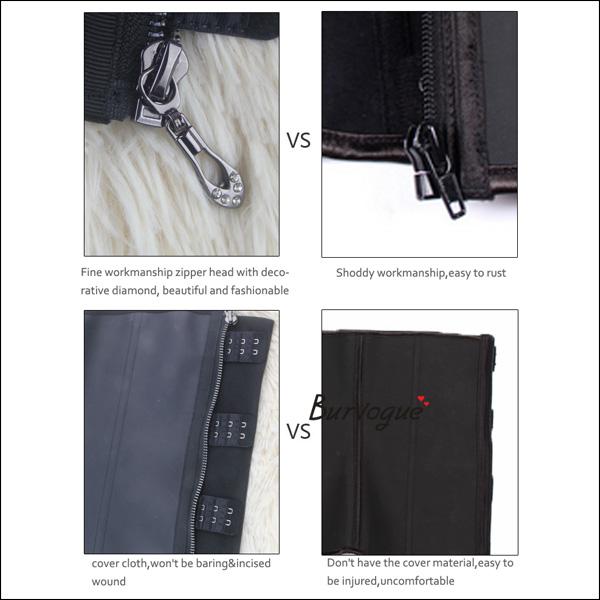 black-zipper-latex-waist-training-corset-21435
