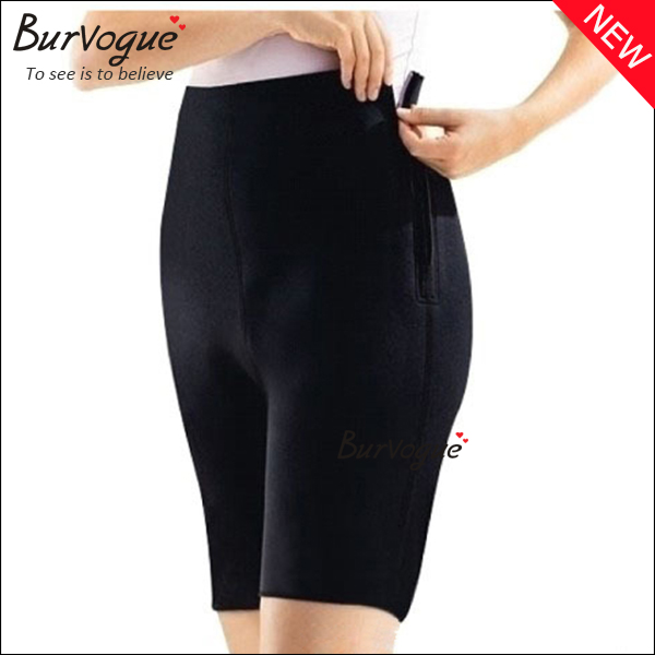black running shorts high waist workout control pants -16023