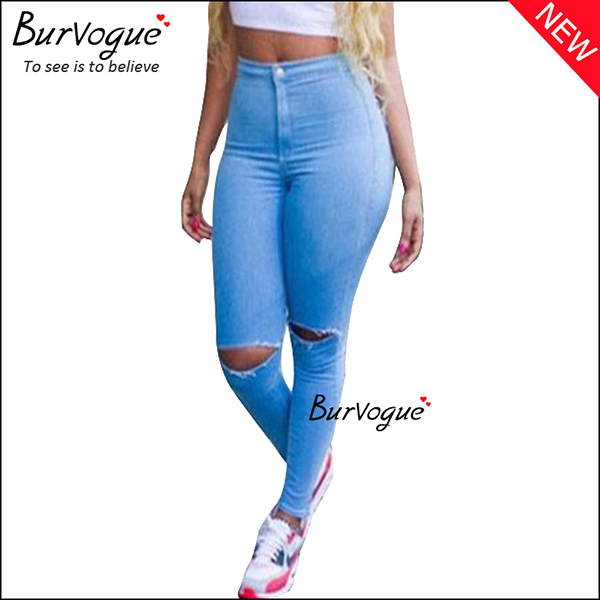 blue-denim-ripped-hole-high-waist-skinny-butt-lifting-jeans--90001