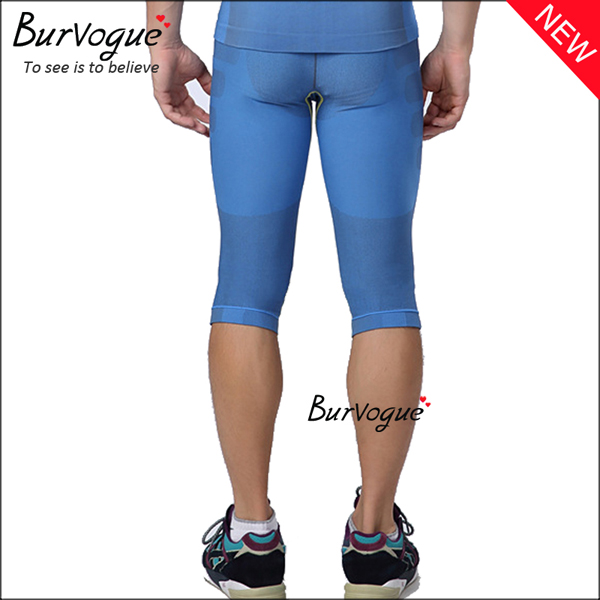 Mens Body Shaper High Waist Running Pants Sports Leggings