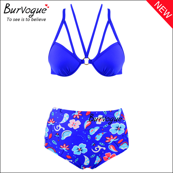 blue-printing-womens-bikinis-bandage-high-waist-swimsuits-70133