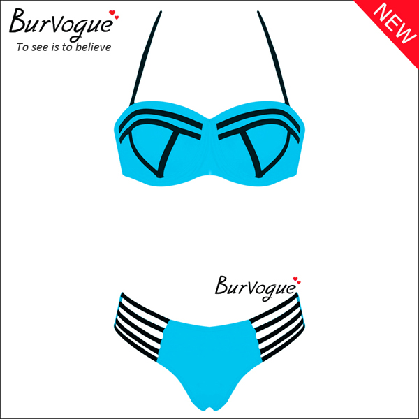 blue-women-swimwear-strapless-underwire-push-up-bikinis-70124