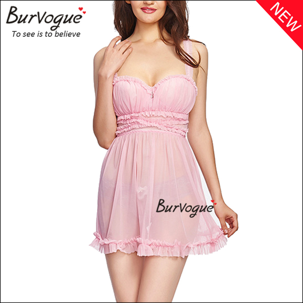 charming-lace-trim-babydolls-sheer-mesh-chemises-nightwear-13141