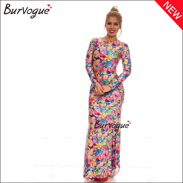 colorful-floral-print-dress-long-sleeve-maxi-dress-longuette-15471