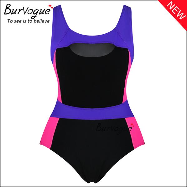 colorful-women-bikini-mesh-one-piece-swimsuits-wholesale-70148
