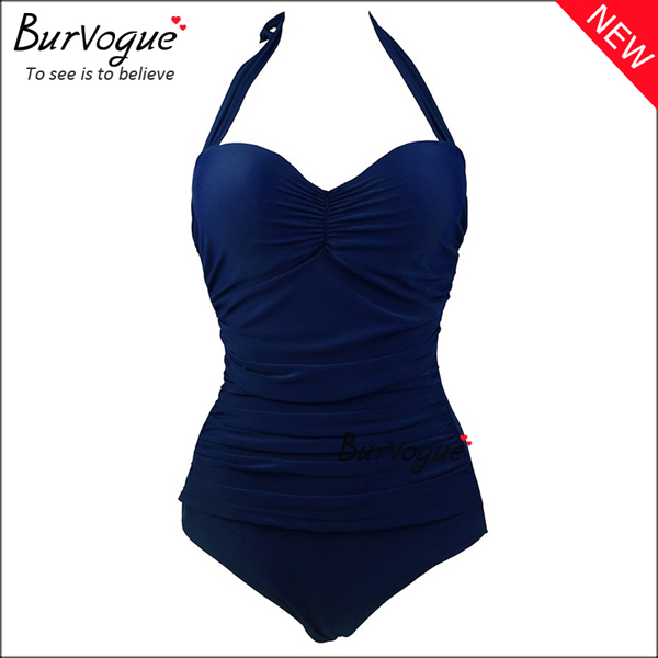 dark-blue-one-piece-swimsuit-halter-bikini-70101