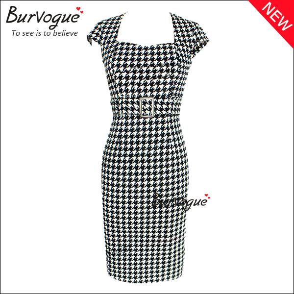 elegant-lattice-sheath-casual-dress-party-dresses-with-belt-15587.jpg