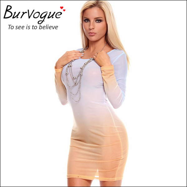 elegant white sheath dress long sleeve herve leger dress-15539