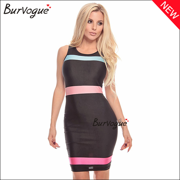 fashion-black-bodycon-dress-sleeveless-color-block-dress-15500