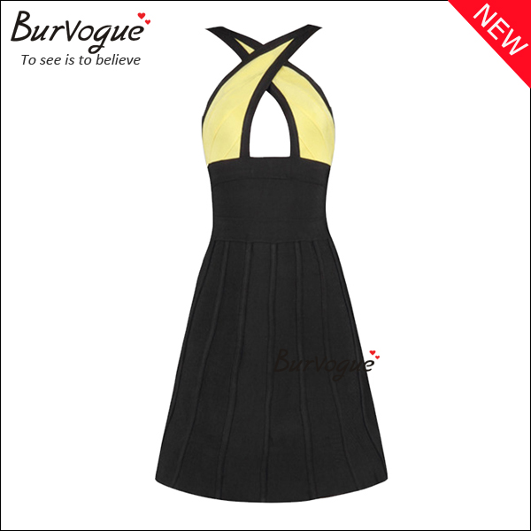 fashion-front-cross-neck-bandage-dress-15605
