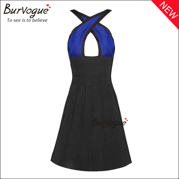 fashion-front-cross-neck-party-casual-bandage-dress-15605