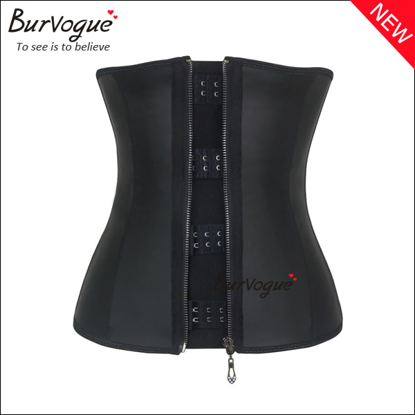 front-metal-hook-black-latex-corset-21435