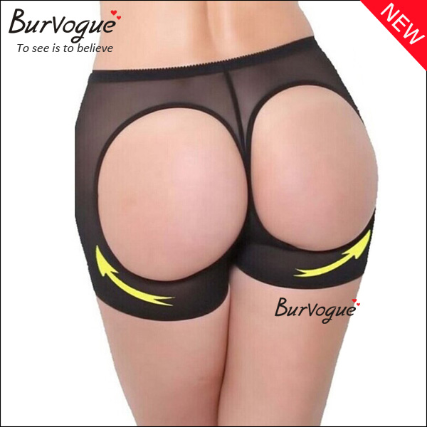 Double O Butt Lift Underwear Mesh Tummy Control Panties-16019