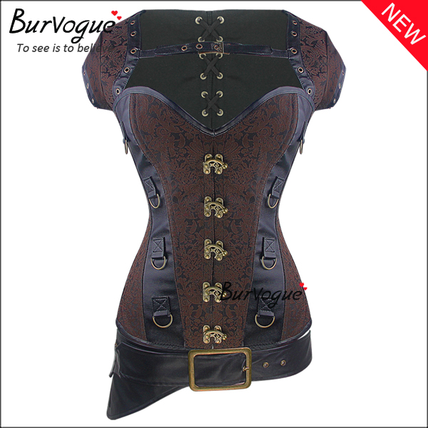 gothic-dobby-12-steel-boned-bustier-tops-steampunk-corset-23089