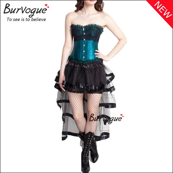 graceful-mesh-corset-dress-lace-trim-bustier-tops-wholesale-p-20004