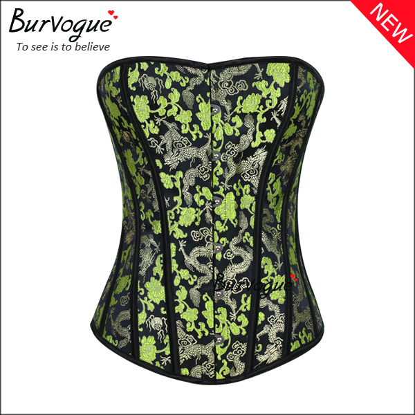green-waist-cincher-overbust-corset-tops-with-dragon-pattern-21447