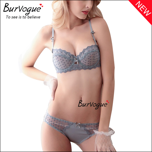 grey-cheap-lingerie-transparent-unpadded-underwear-bra-sets-60076