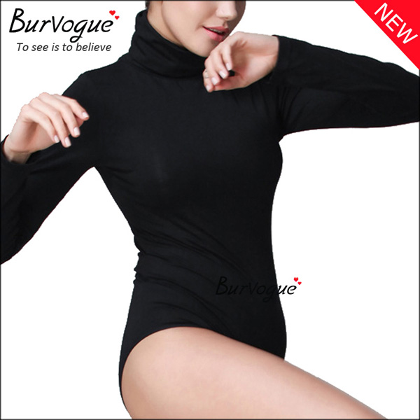 high-collar-bodysuits-long-sleeve-body-shaper-wholesale-16081
