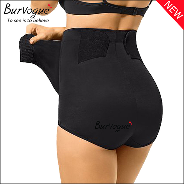 black-velcro-recovery-high-waist-panties-tummy-control-body-shaper-16085