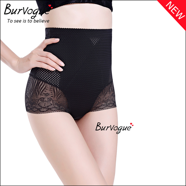 high-waist-shapewear-steel-boned-lace-body-shaper-wholesale-16088