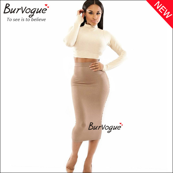 long sleeve bodycon dress high neck party dress wrap dress wholesale-15332