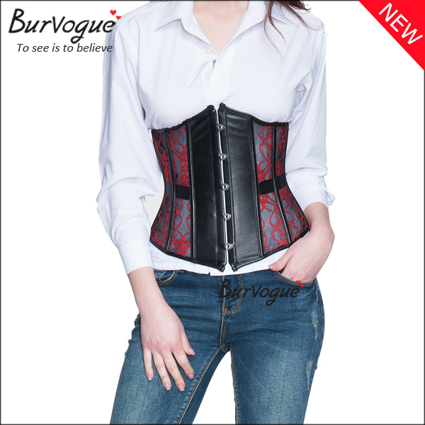 mesh-waist-training-corset-leather-bustier-underbust-corset-22039