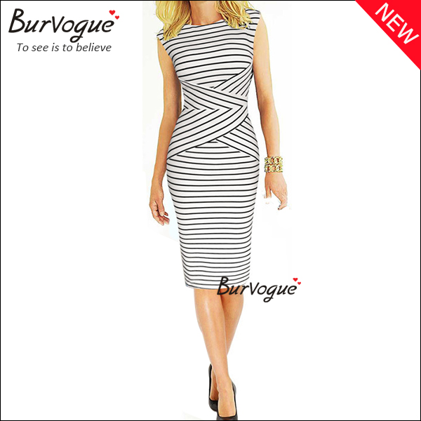 new-women-stripe-sleeveless-casual-bodycon-dresses-wholesale-15591