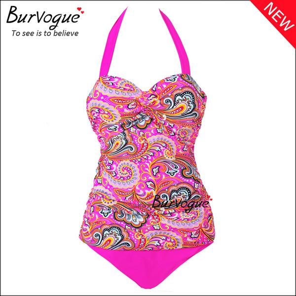pink-halter-swimwear-bikini-wholesale-70102