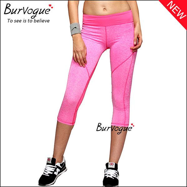 pink-womens-foldover-mid-waist-yoga-sports-leggings-wholesale-80084