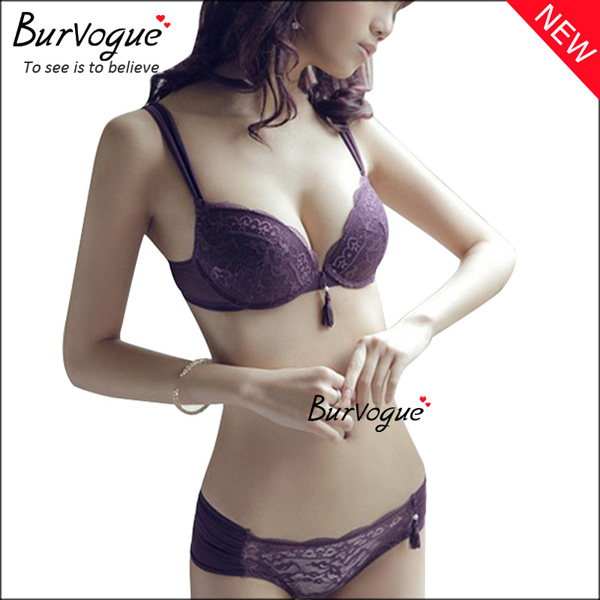 purple-adjustable-straps-underwear-lace-bra-sets-60087
