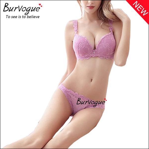 purple-seamless-lace-padded-underwear-bra-sets-60083
