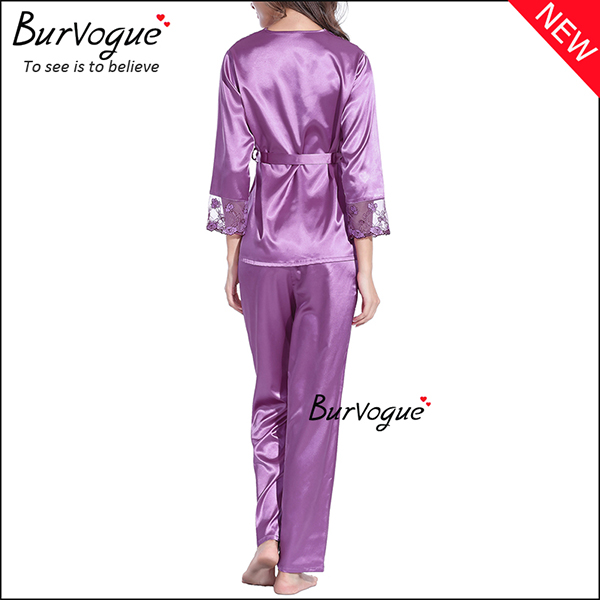 purple-soft-slik-long-sleeve-nightgown-set-gown-robes-wholesale-13168