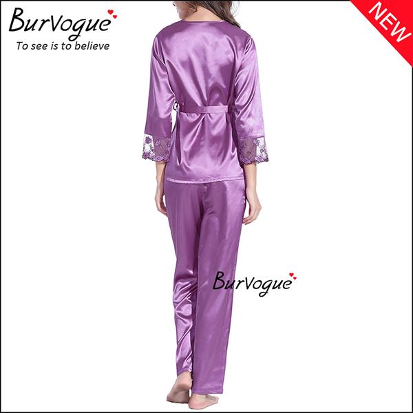 purple-soft-slik-long-sleeve-nightgown-set-gown-robes-wholesale-13168