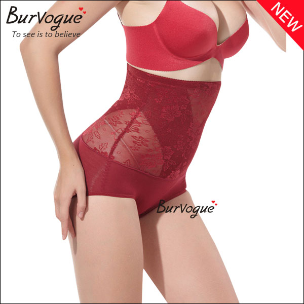 red-lace-high-waist-brief-shapewear-wholesale-16028